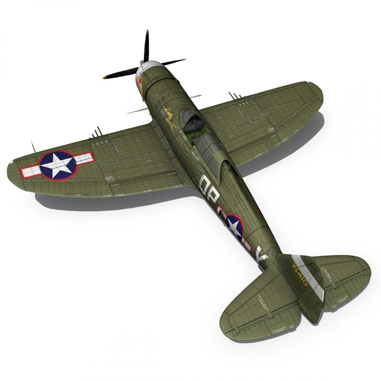 republic p-47c thunderbolt – little butch – qp-v 3d model 3ds fbx c4d lwo obj 301475