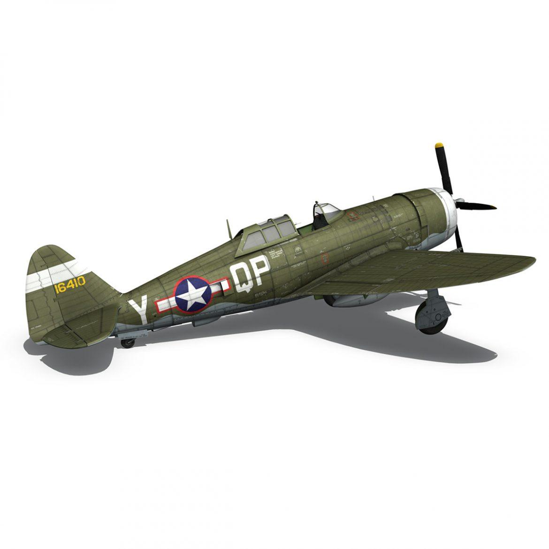 republic p-47c thunderbolt – little butch – qp-v 3d model 3ds fbx c4d lwo obj 301476