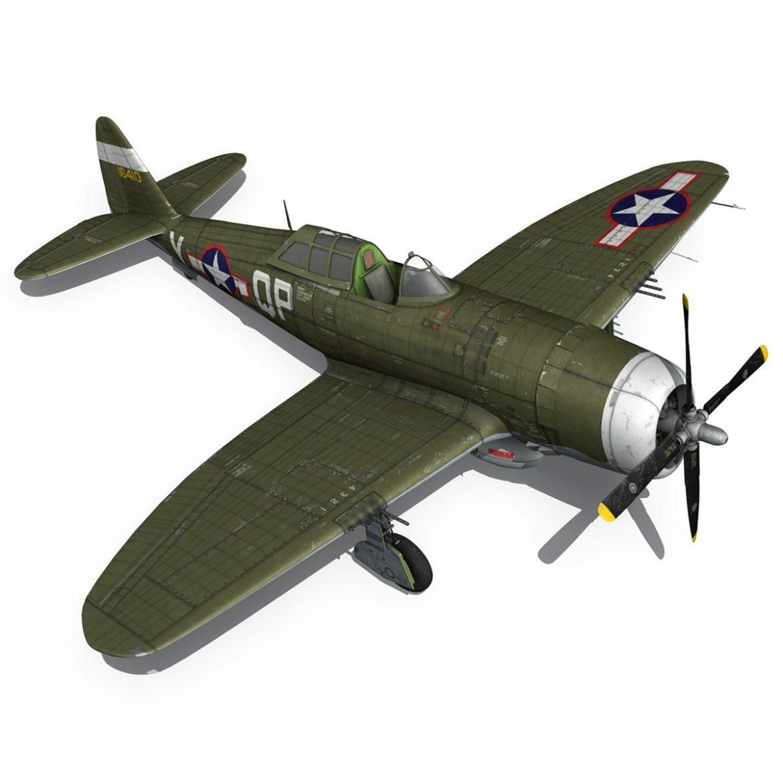 republic p-47c thunderbolt – little butch – qp-v 3d model 3ds fbx c4d lwo obj 301477