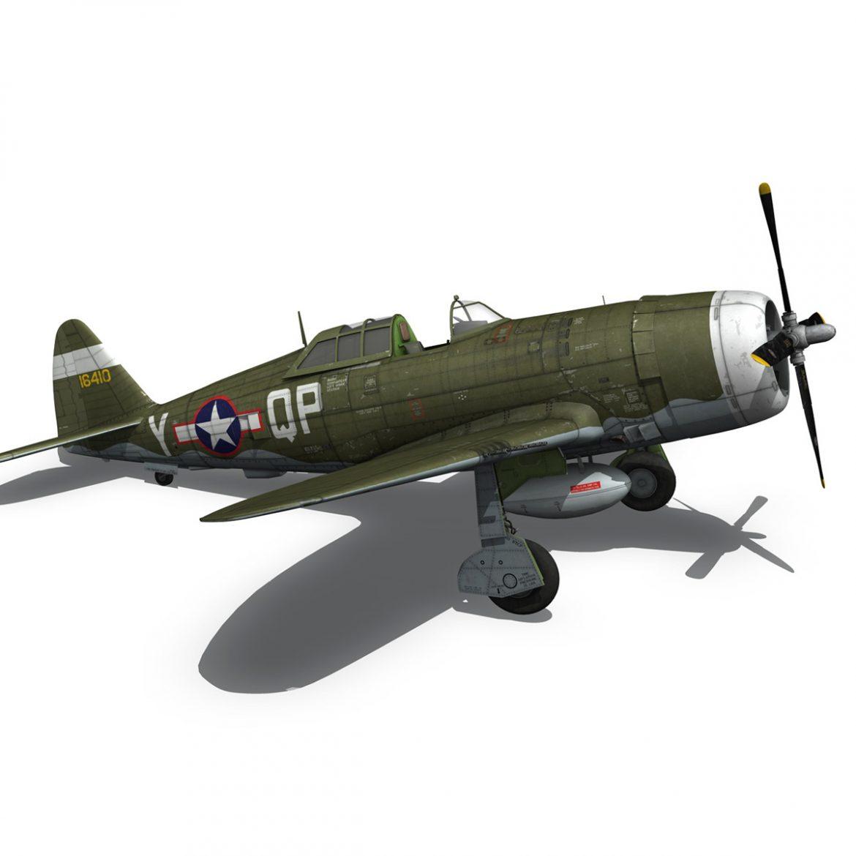 republic p-47c thunderbolt – little butch – qp-v 3d model 3ds fbx c4d lwo obj 301478