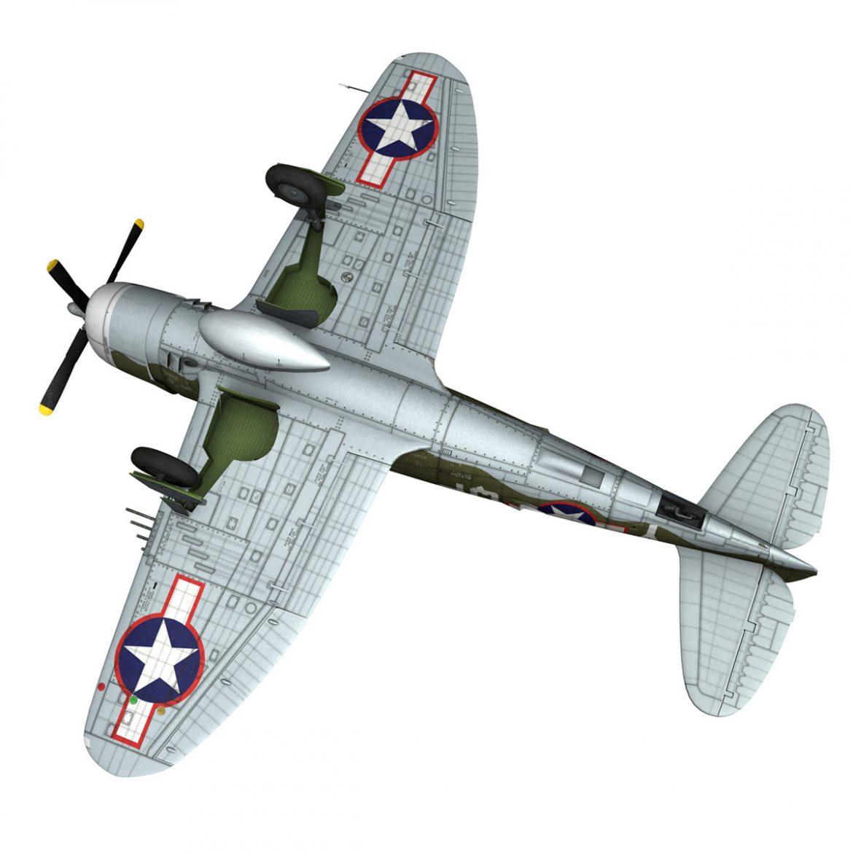 republic p-47c thunderbolt – little butch – qp-v 3d model 3ds fbx c4d lwo obj 301479