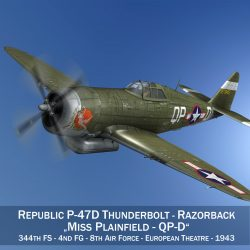 republic p-47d thunderbolt – miss plainfield 3d model 3ds fbx c4d lwo obj 301488