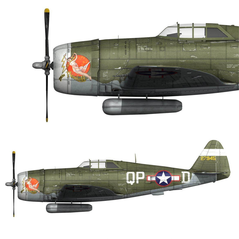 republic p-47d thunderbolt – miss plainfield 3d model 3ds fbx c4d lwo obj 301489