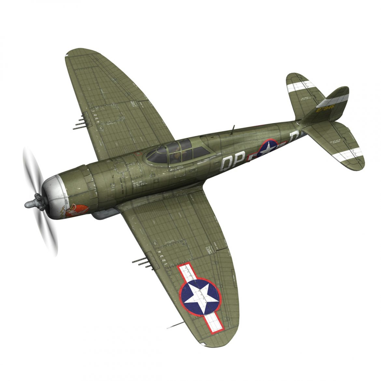 republic p-47d thunderbolt – miss plainfield 3d model 3ds fbx c4d lwo obj 301491