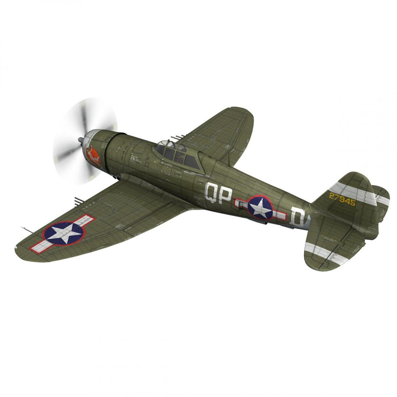 republic p-47d thunderbolt – miss plainfield 3d model 3ds fbx c4d lwo obj 301492