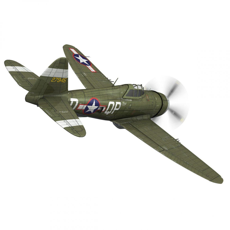 republic p-47d thunderbolt – miss plainfield 3d model 3ds fbx c4d lwo obj 301494