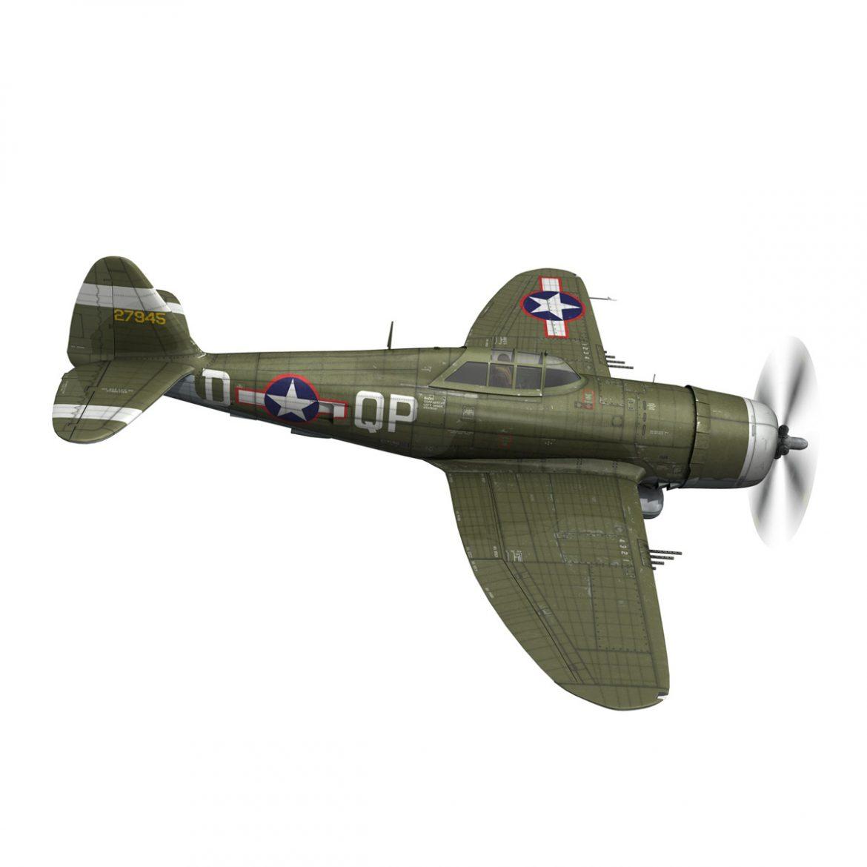 republic p-47d thunderbolt – miss plainfield 3d model 3ds fbx c4d lwo obj 301495