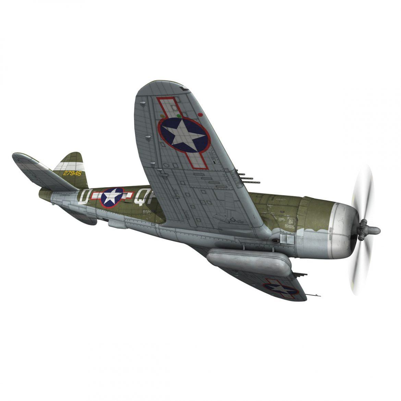 republic p-47d thunderbolt – miss plainfield 3d model 3ds fbx c4d lwo obj 301496