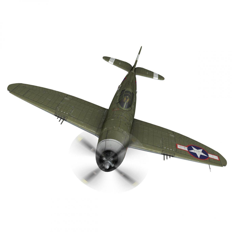 republic p-47d thunderbolt – miss plainfield 3d model 3ds fbx c4d lwo obj 301497