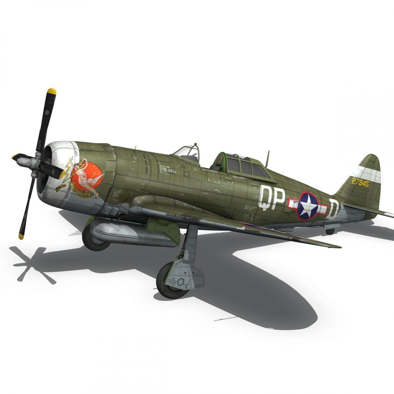 republic p-47d thunderbolt – miss plainfield 3d model 3ds fbx c4d lwo obj 301498