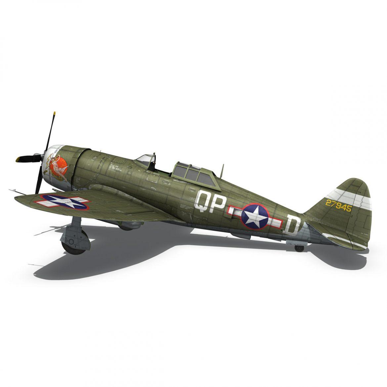 republic p-47d thunderbolt – miss plainfield 3d model 3ds fbx c4d lwo obj 301499
