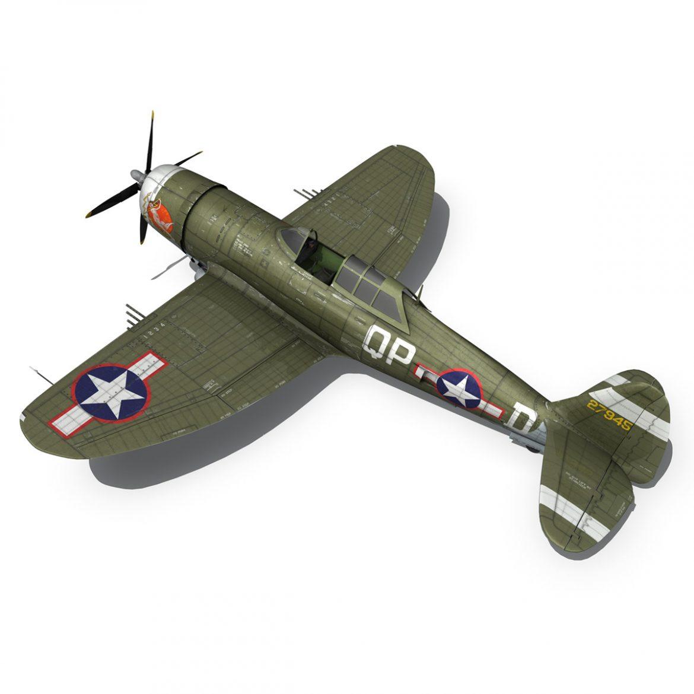 republic p-47d thunderbolt – miss plainfield 3d model 3ds fbx c4d lwo obj 301500