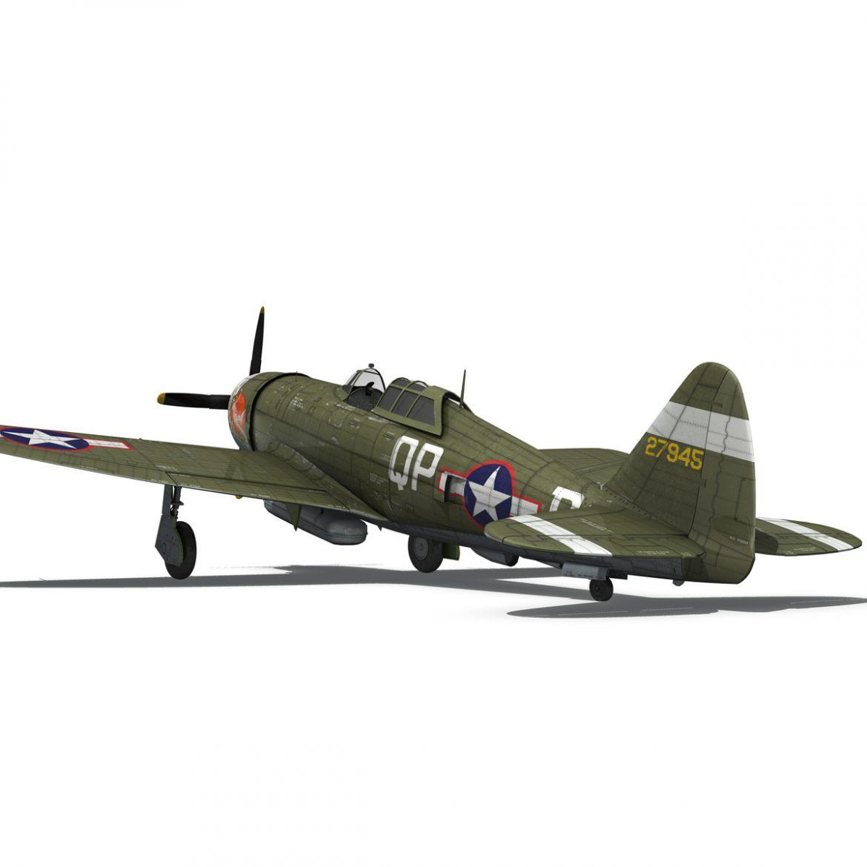 republic p-47d thunderbolt – miss plainfield 3d model 3ds fbx c4d lwo obj 301501