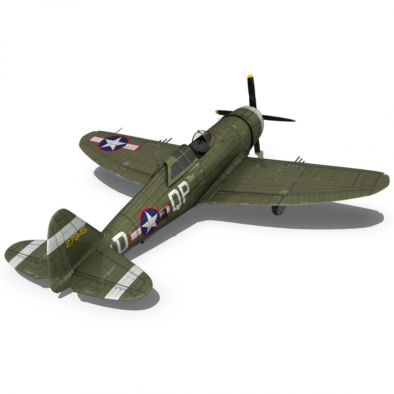 republic p-47d thunderbolt – miss plainfield 3d model 3ds fbx c4d lwo obj 301502