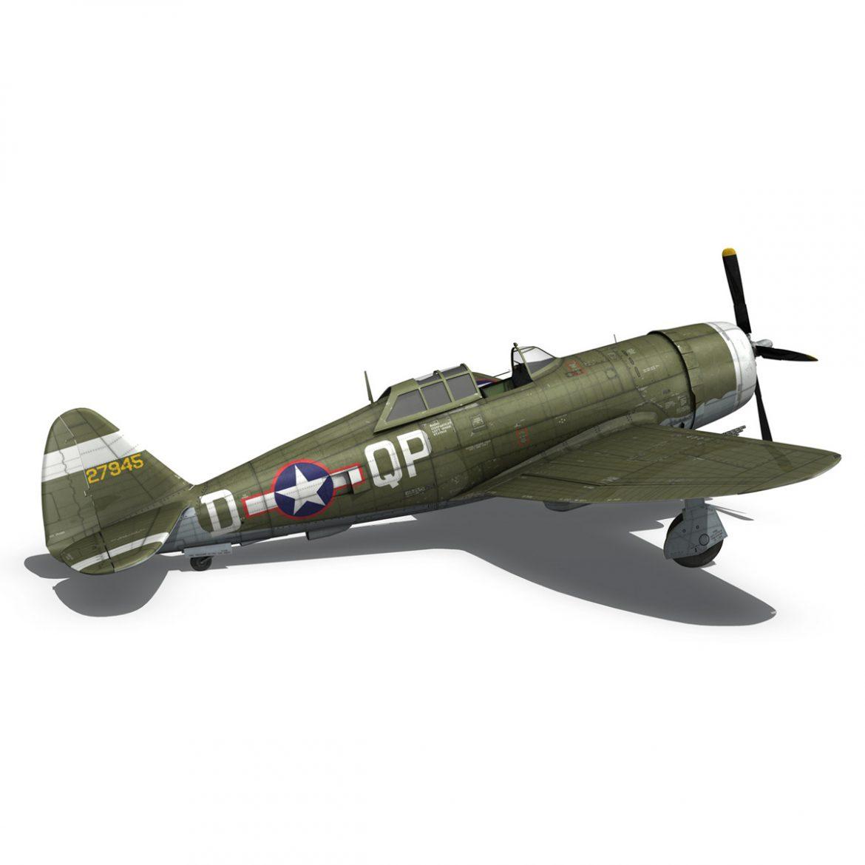 republic p-47d thunderbolt – miss plainfield 3d model 3ds fbx c4d lwo obj 301503