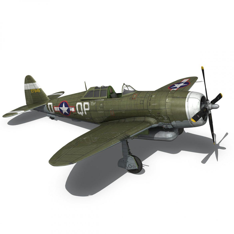 republic p-47d thunderbolt – miss plainfield 3d model 3ds fbx c4d lwo obj 301504
