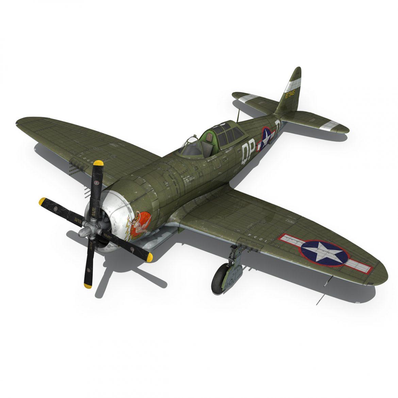 republic p-47d thunderbolt – miss plainfield 3d model 3ds fbx c4d lwo obj 301505