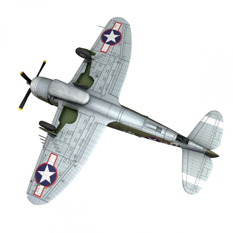 republic p-47d thunderbolt – miss plainfield 3d model 3ds fbx c4d lwo obj 301506