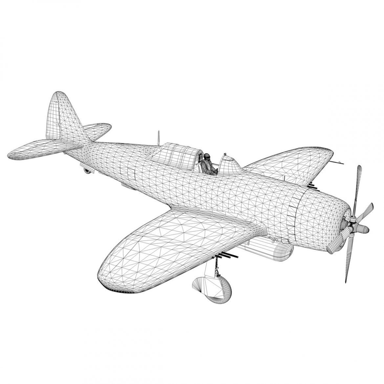 republic p-47d thunderbolt – miss plainfield 3d model 3ds fbx c4d lwo obj 301507