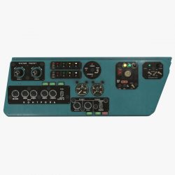 mi-8mt mi-17mt left side console russian 3d model 3ds max fbx obj 301549