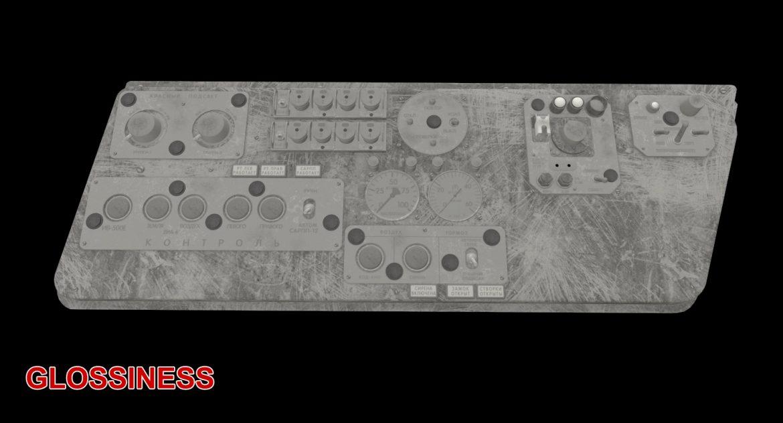 mi-8mt mi-17mt left side console russian 3d model 3ds max fbx obj 301567