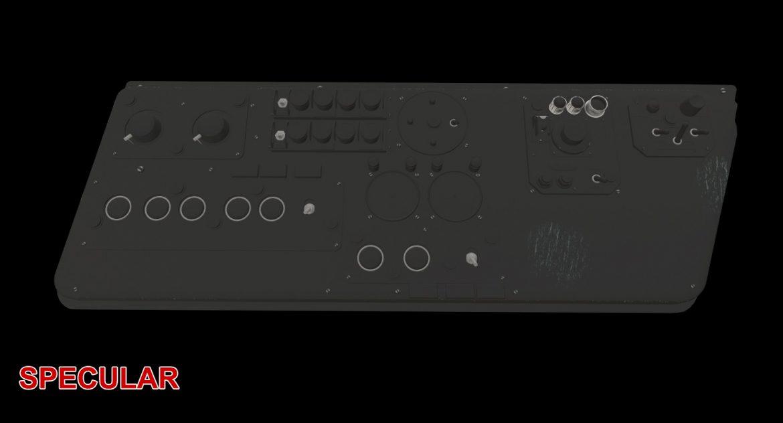 mi-8mt mi-17mt left side console russian 3d model 3ds max fbx obj 301568