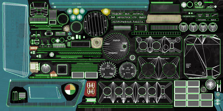 mi-8mt mi-17mt left side console russian 3d model 3ds max fbx obj 301577