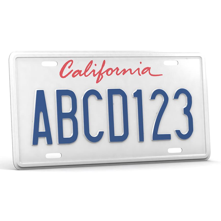 car license plate 3d model 3ds max fbx obj 301589