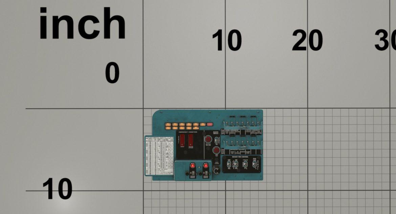 mi-8mt mi-17mt left circuit console english 3d model 3ds max fbx obj 301678