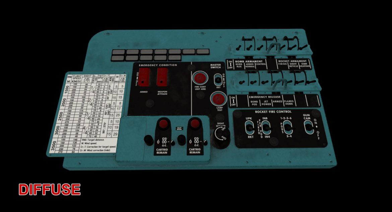 mi-8mt mi-17mt left circuit console english 3d model 3ds max fbx obj 301685