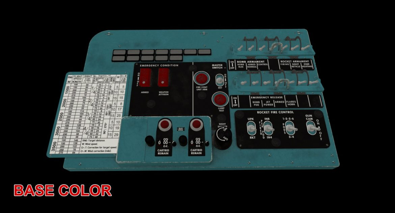 mi-8mt mi-17mt left circuit console english 3d model 3ds max fbx obj 301688