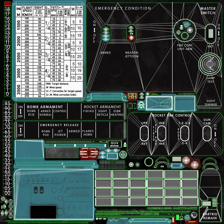 mi-8mt mi-17mt left circuit console english 3d model 3ds max fbx obj 301696