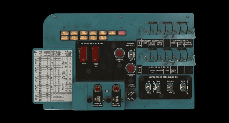 mi-8mt mi-17mt left circuit console russian 3d model 3ds max fbx obj 301706