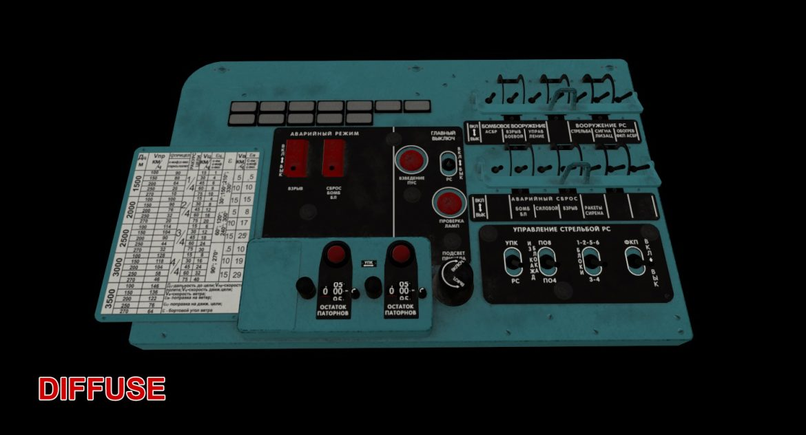 mi-8mt mi-17mt left circuit console russian 3d model 3ds max fbx obj 301720