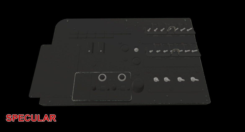 mi-8mt mi-17mt left circuit console russian 3d model 3ds max fbx obj 301722