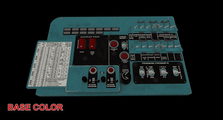 mi-8mt mi-17mt left circuit console russian 3d model 3ds max fbx obj 301723