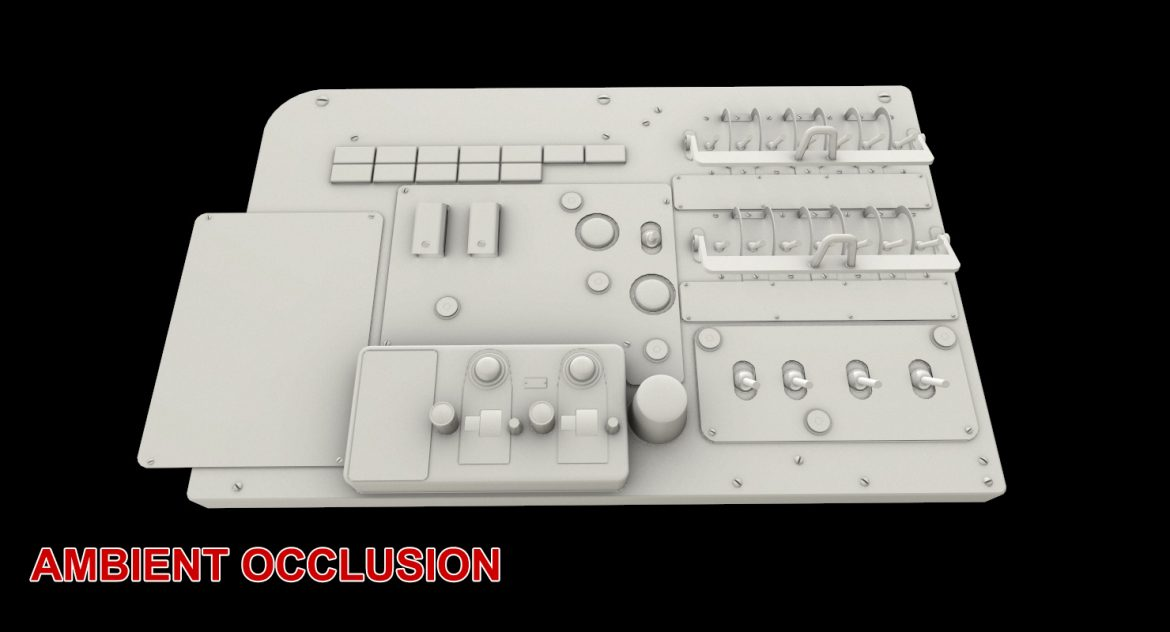 mi-8mt mi-17mt left circuit console russian 3d model 3ds max fbx obj 301726