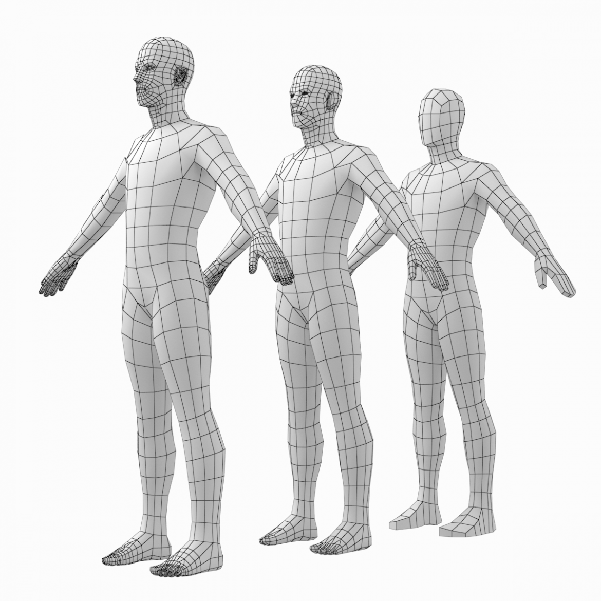 female and male base mesh in a pose bundle 3d model 3ds max dxf dwg fbx c4d dae ma mb  obj 301865