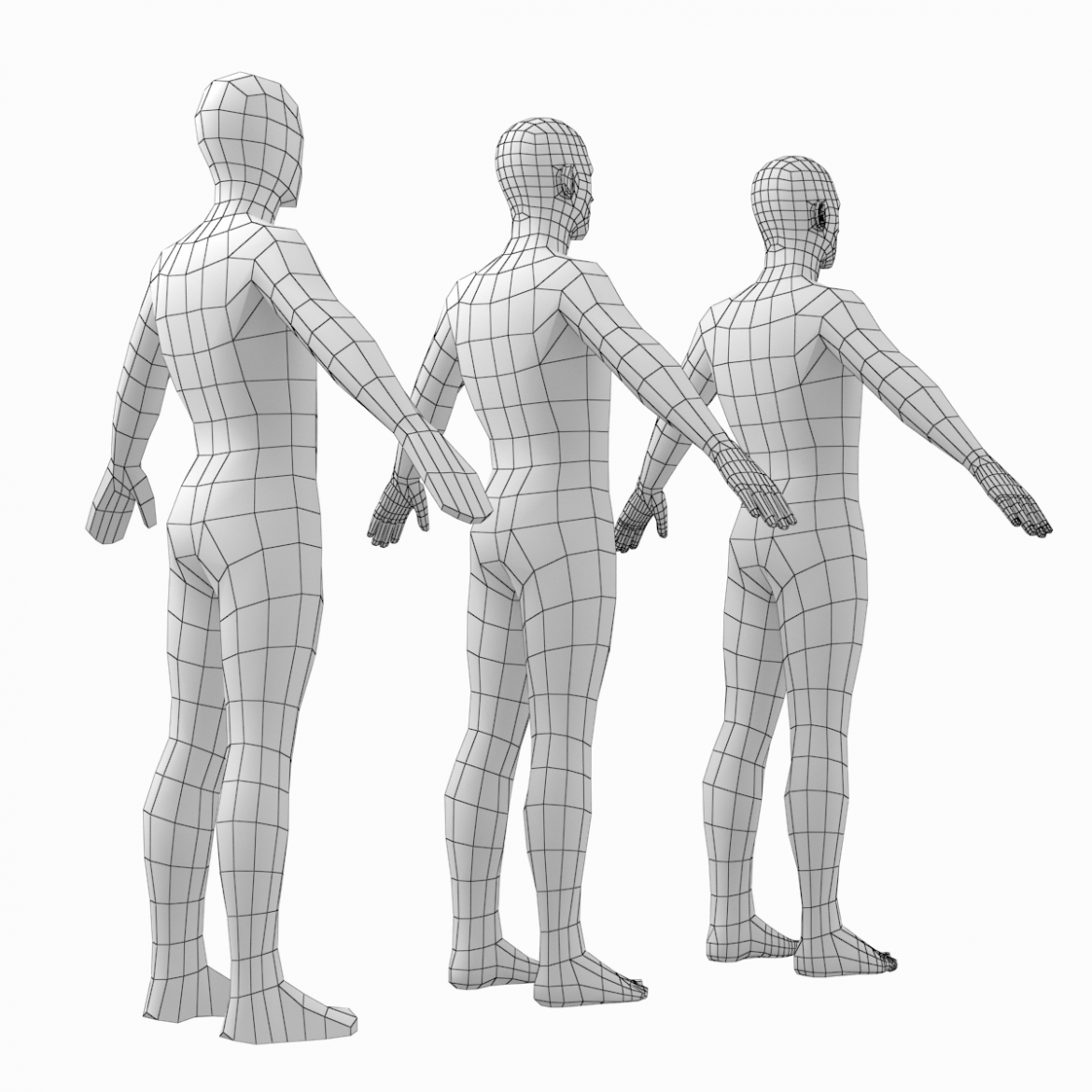 female and male base mesh in a pose bundle 3d model 3ds max dxf dwg fbx c4d dae ma mb  obj 301866