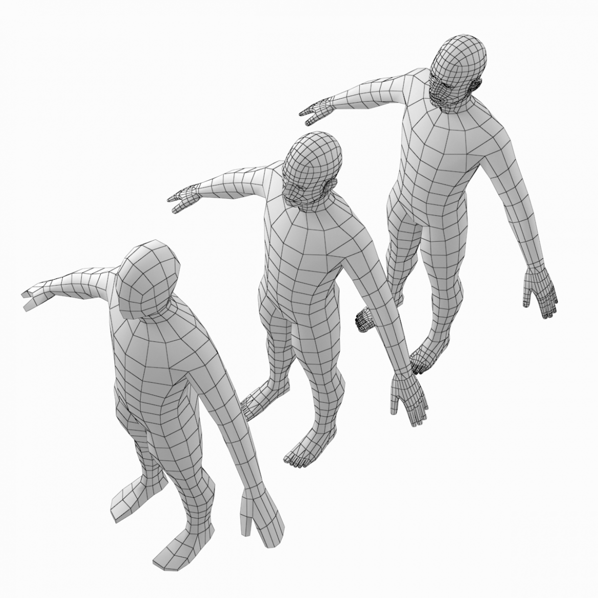 female and male base mesh in a pose bundle 3d model 3ds max dxf dwg fbx c4d dae ma mb  obj 301867