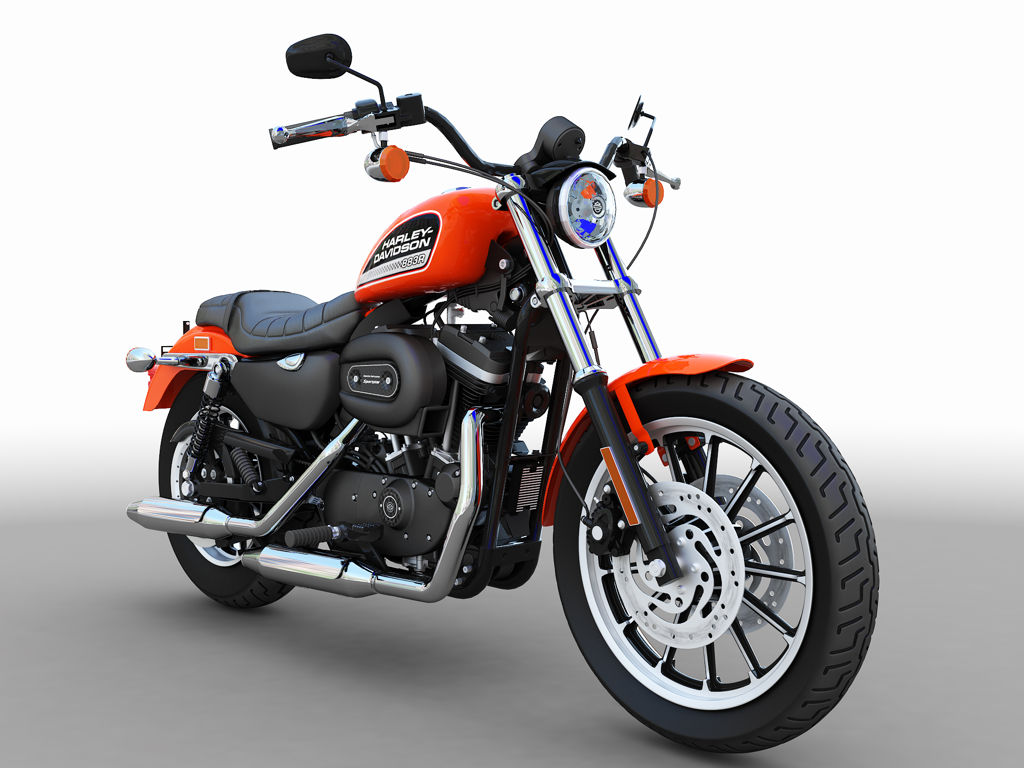 harley davidson sportster roadster 3d model. Black Bedroom Furniture Sets. Home Design Ideas