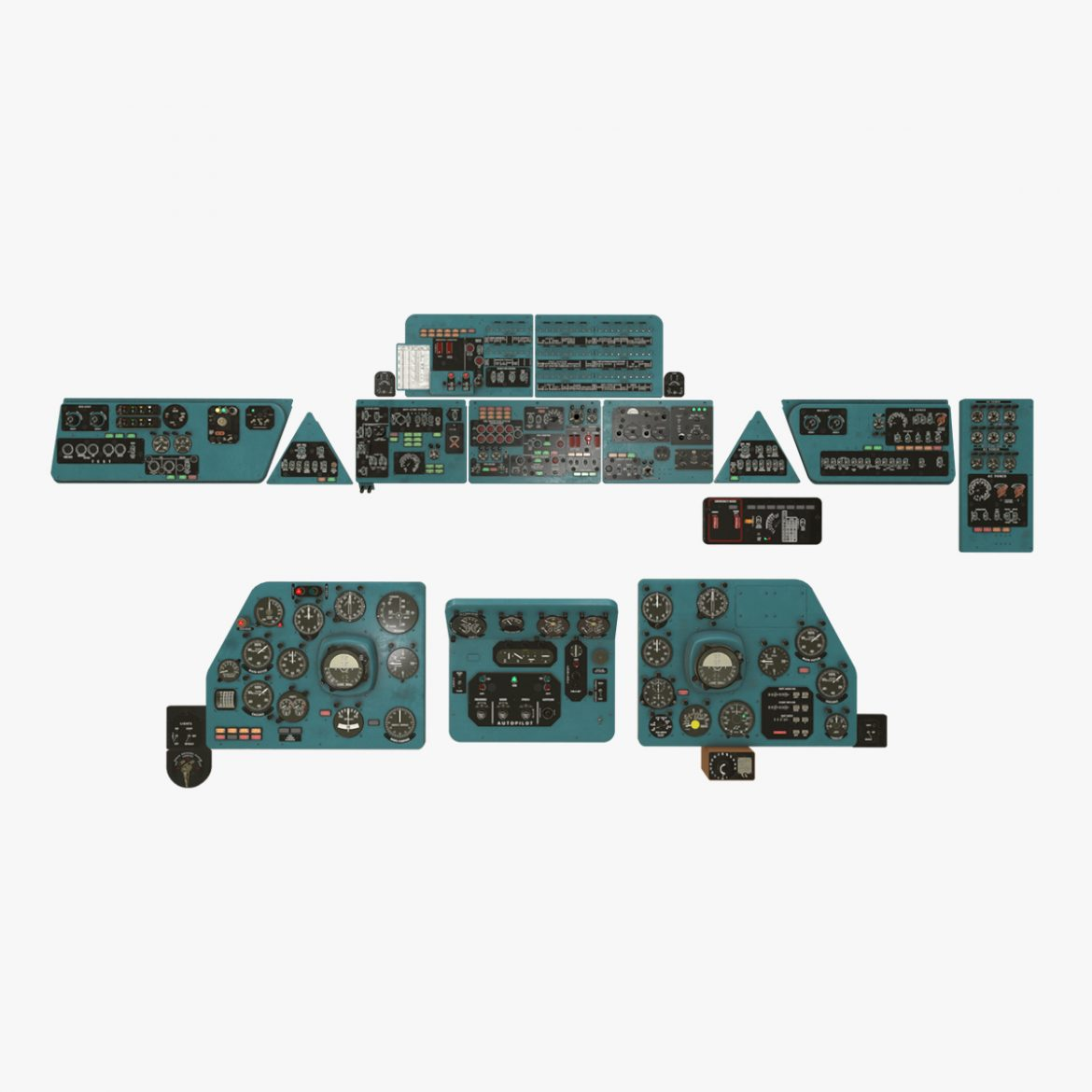 mi-8mt mi-17mt panel boards english 3d model 3ds max fbx obj 301952