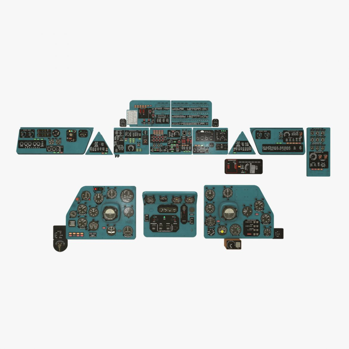 mi-8mt mi-17mt panel boards russian 3d model 3ds max fbx obj 301998