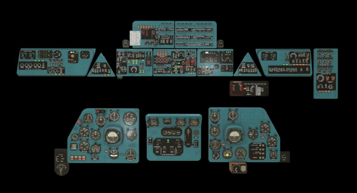mi-8mt mi-17mt panel boards russian 3d model 3ds max fbx obj 301999