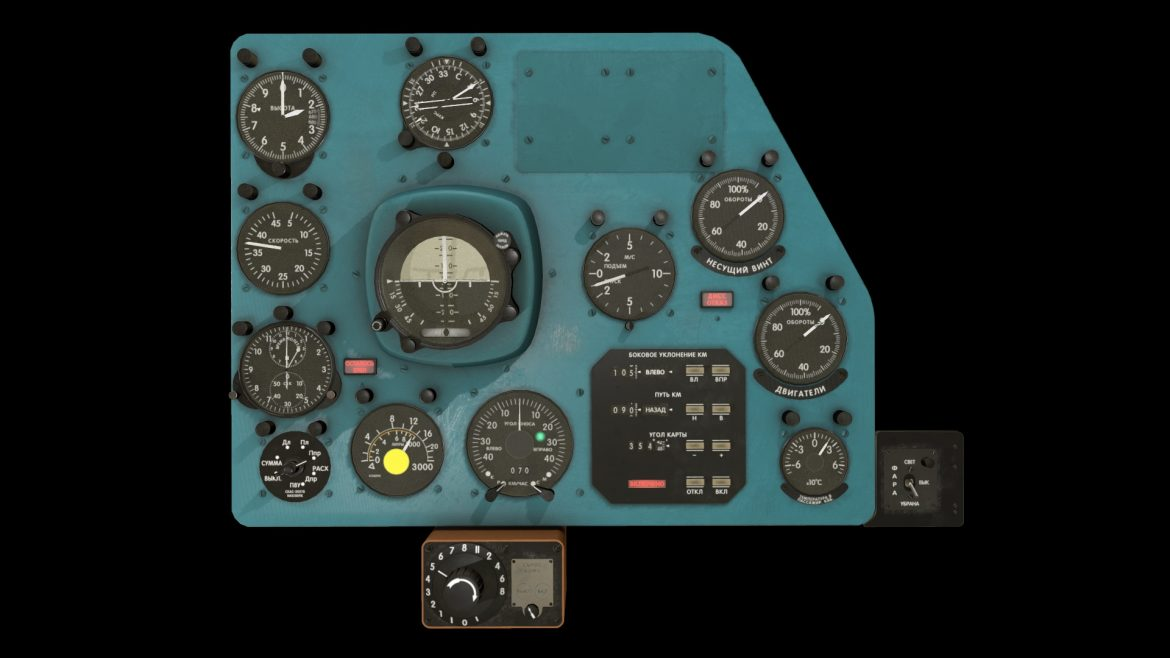 mi-8mt mi-17mt panel boards russian 3d model 3ds max fbx obj 302011