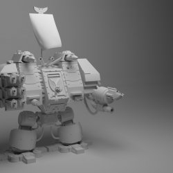 warhammer 40k ironclad dreadnought 3d model blend 302074