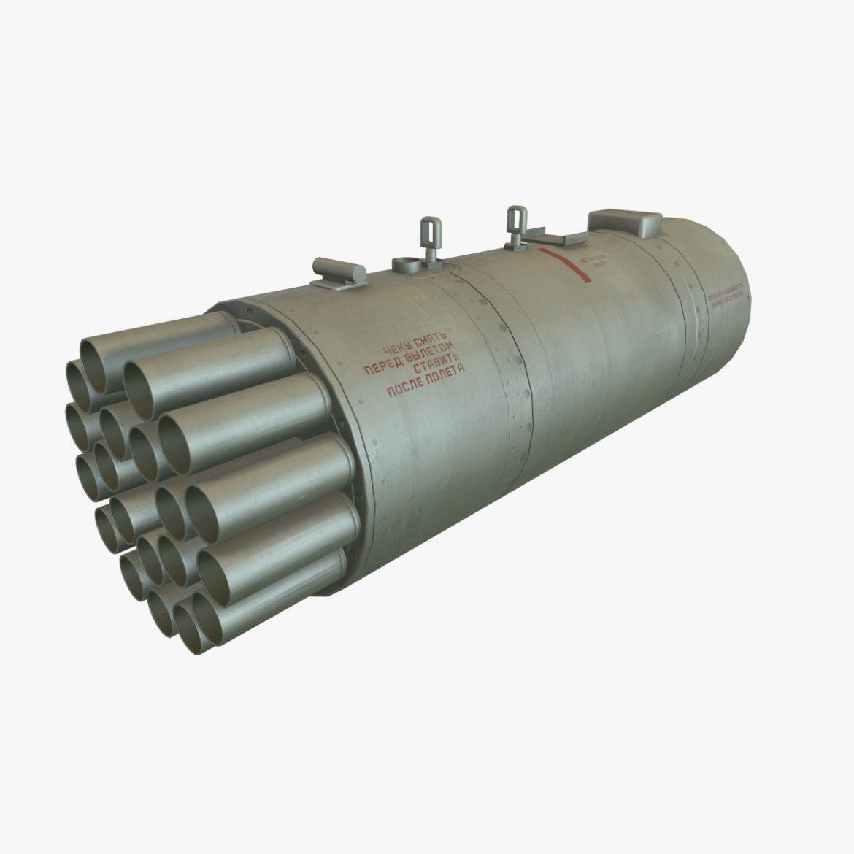 rocket launcher b-8v20a 3d model 3ds max fbx obj 302278