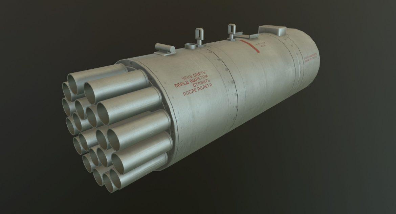 rocket launcher b-8v20a 3d model 3ds max fbx obj 302310