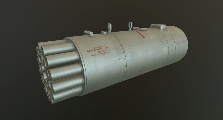 rocket launcher b-8v20a 3d model 3ds max fbx obj 302311