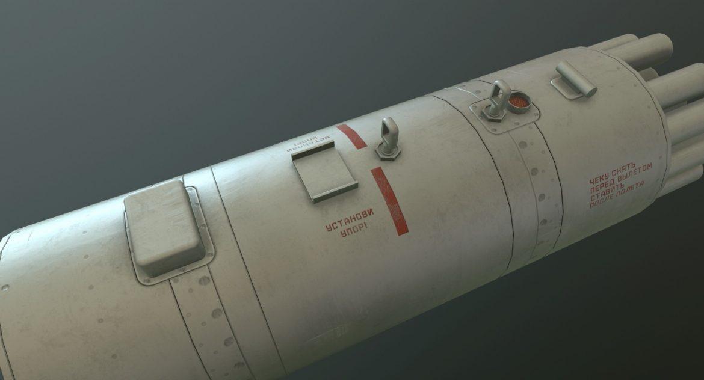 rocket launcher b-8v20a 3d model 3ds max fbx obj 302317